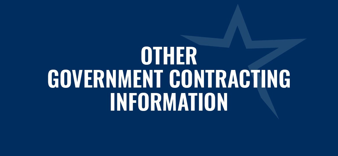 Other Government Contracting Information from the Florida SBDC at FGCU Small Business Consulting