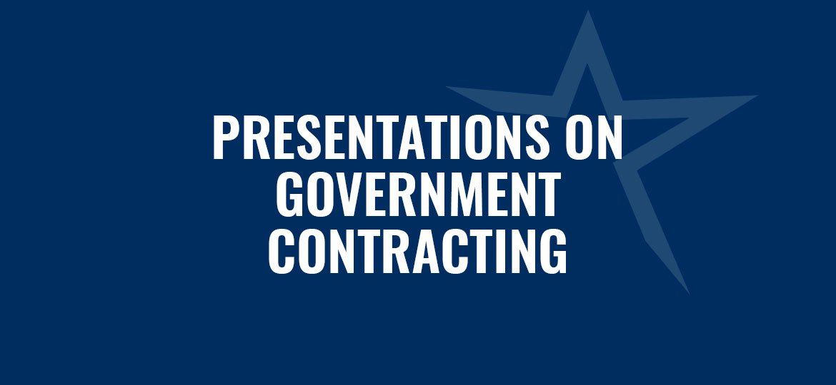 Presentations on Government Contracting from the Florida SBDC at FGCU Small Business Contracting